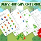 The Very Hungry Caterpillar free printable pack for preschool