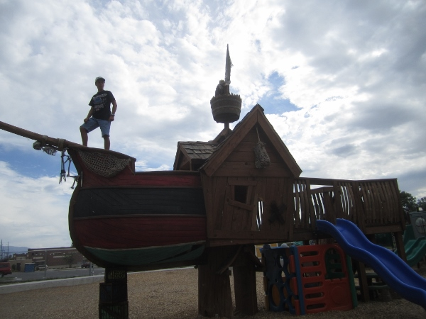 Son on a Pirate playground