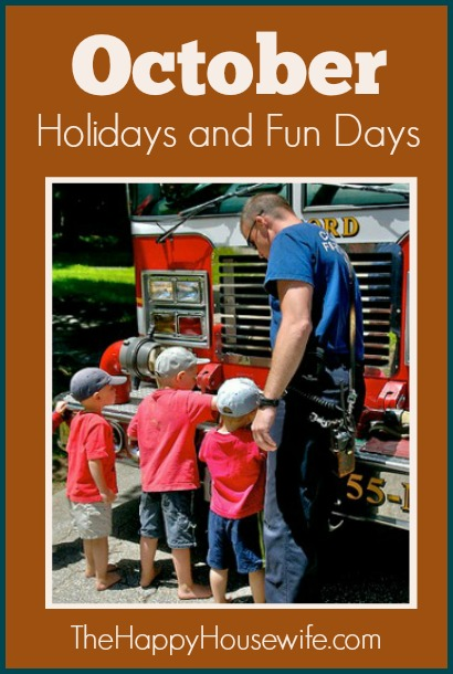 Here are fun and educational activities, recipes, and more to help you and your kids enjoy October Holidays and Fun Days.
