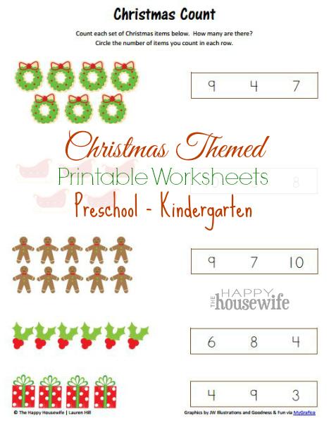 Christmas Themed Worksheets Free Printables