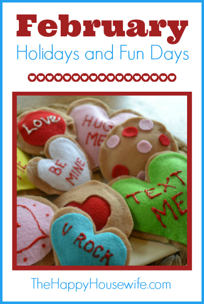 Enjoy these kids activities to go along with a few holidays and fun days in February.