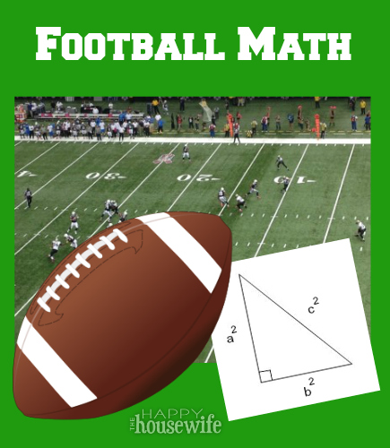 Football Math | The Happy Housewife