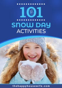 101 Snow Activities to do with kids