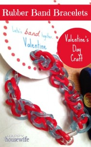 Rubber Band Bracelets Valentines Day Craft The Happy