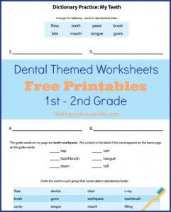 Dental-Themed Worksheets: Free Printables - The Happy ...