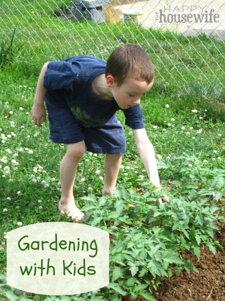 Gardening with Kids | The Happy Housewife