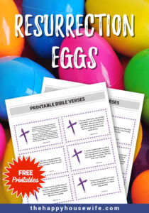 Easy Resurrection Eggs Free printable