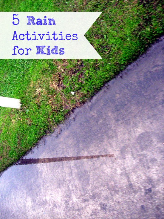 5 Rainy Day Activities for Kids | The Happy Housewife
