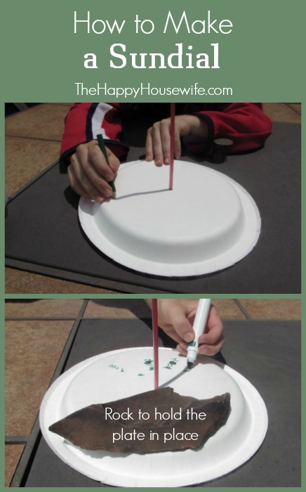 How to Make a Sundial at The Happy Housewife