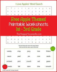 Apple Themed Worksheets: Free Printables - The Happy ...