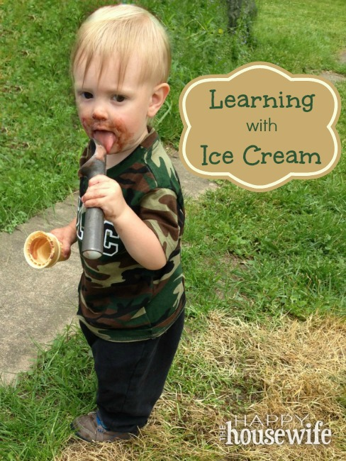 Learning with Ice Cream at The Happy Housewife