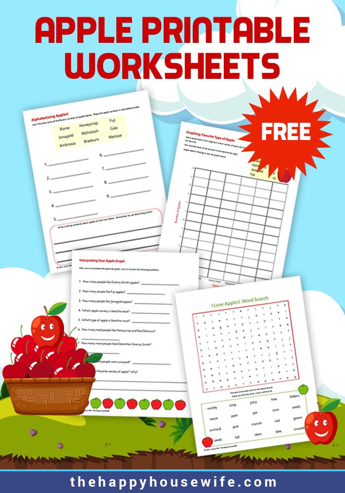 Apple Printable Worksheets (Free)