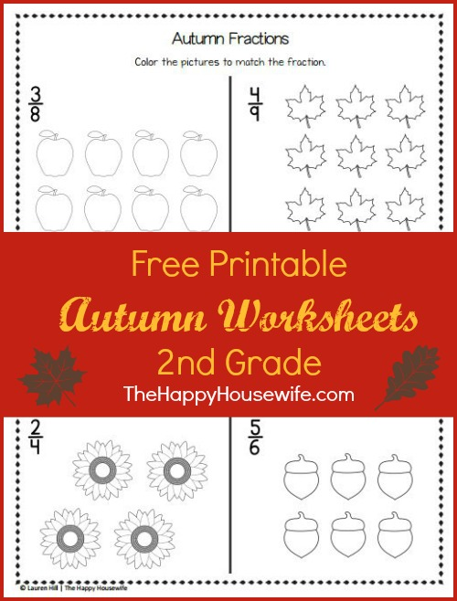 Autumn Worksheets: Free Printables - The Happy Housewife™ :: Home Schooling