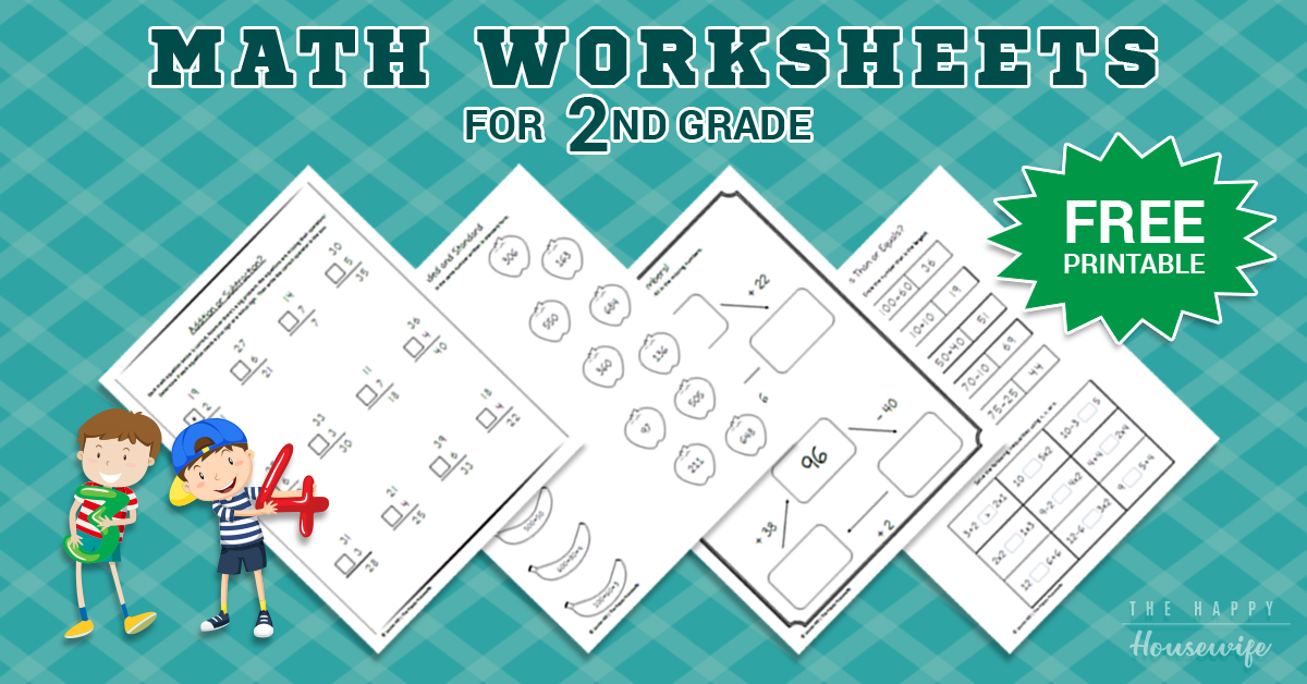 Math Worksheets For 2nd Grade: Free Printables - The Happy Housewife™ ::  Home Schooling