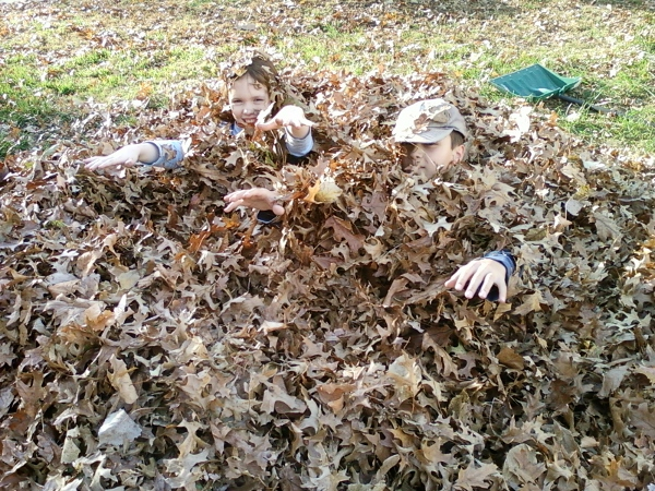 Benefits of Raking Leaves at The Happy Housewife