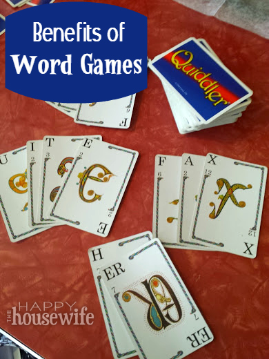 Benefits of Word Games at The Happy Housewife