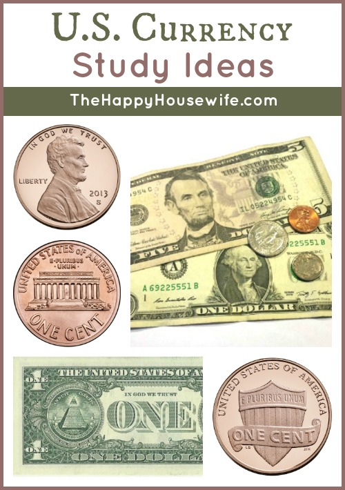 U.S. Currency Study Ideas at The Happy Housewife