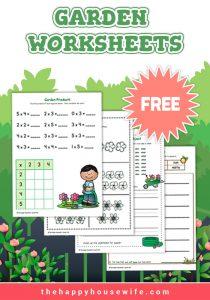 Free printable worksheets garden theme