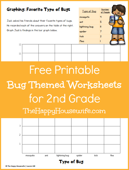 Bug Worksheets: Free Printables - The Happy Housewife™ :: Home Schooling