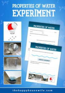 It seems that water is everywhere and in all facets of life. We drink it. We bathe in it. We play in it. We often take it for granted. Since water is everywhere, let's learn more about the properties of water and test them with a few simple experiments.