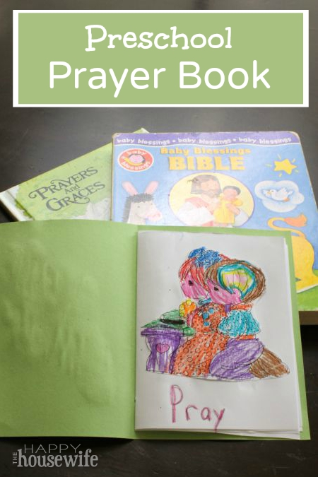 This easy preschool prayer book is a fun way to practice basic coordination skills and remember those we love in prayer. Found at The Happy Housewife