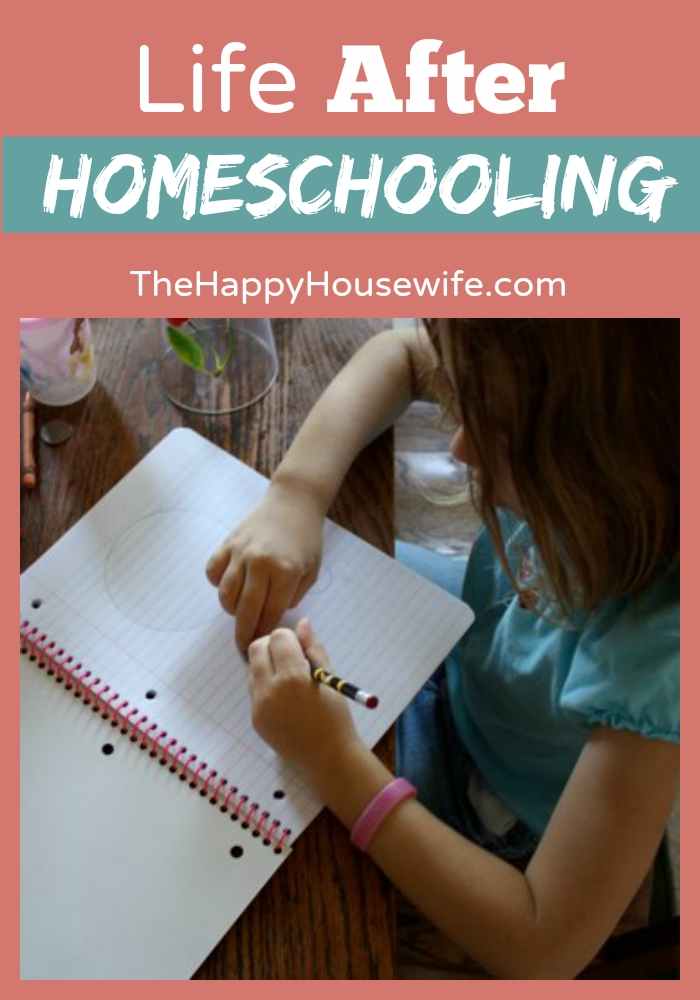 There is life after homeschooling! Learn what it looks like and how to prepare yourself for it, even if you still have several years left. - At The Happy Housewife