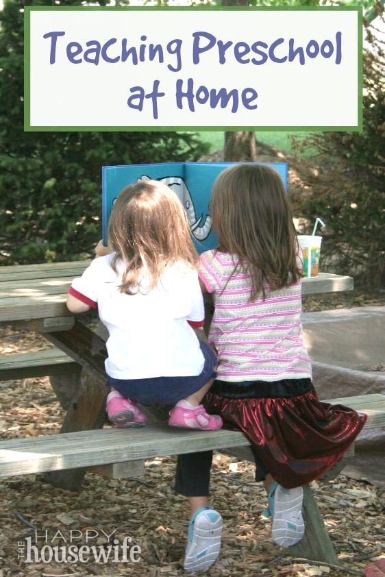 Teaching Preschool at Home - Preschoolers are among the best and easiest children to teach because they learn through everyday life. Found at The Happy Housewife