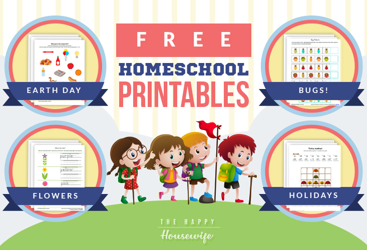 Free Homeschool Printables - The Happy Housewife™ :: Home Schooling
