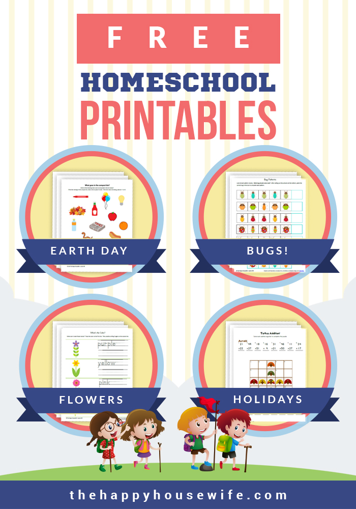 Free printable worksheets to use with your homeschool curriculum