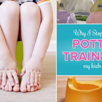 Why I Stopped Potty Training My Kids