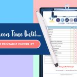 No Screen Time Until Free Printable Checklist