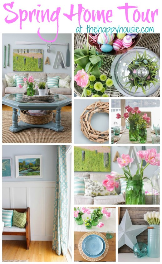 Spring Home Tour at thehappyhousie.com