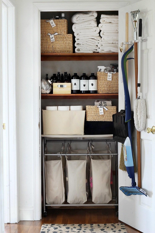 20 Beautifully Organized Linen Closets The Happy Housie