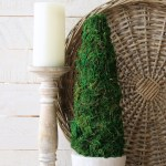 Diy Farmhouse Style Moss Topiary Tree The Happy Housie
