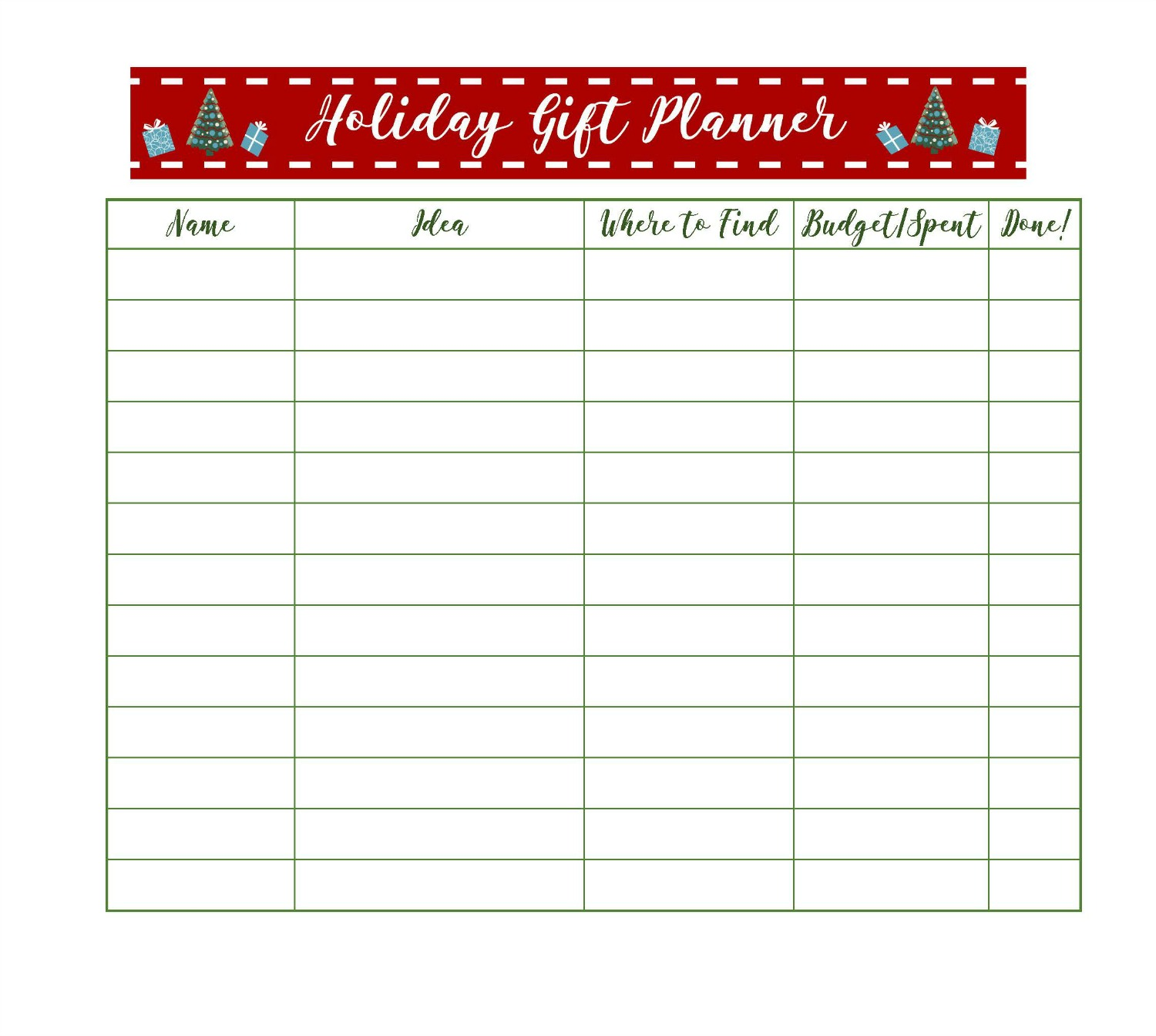 Get Organized For Christmas With Free Printable Holiday