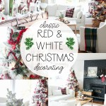 Red White Christmas Decorating New Living Room Tour The Happy Housie