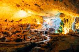 Cave in Halong Bay
