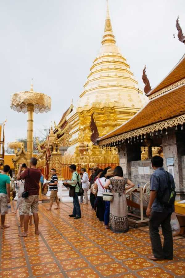 golden stupa doi suthep thailand