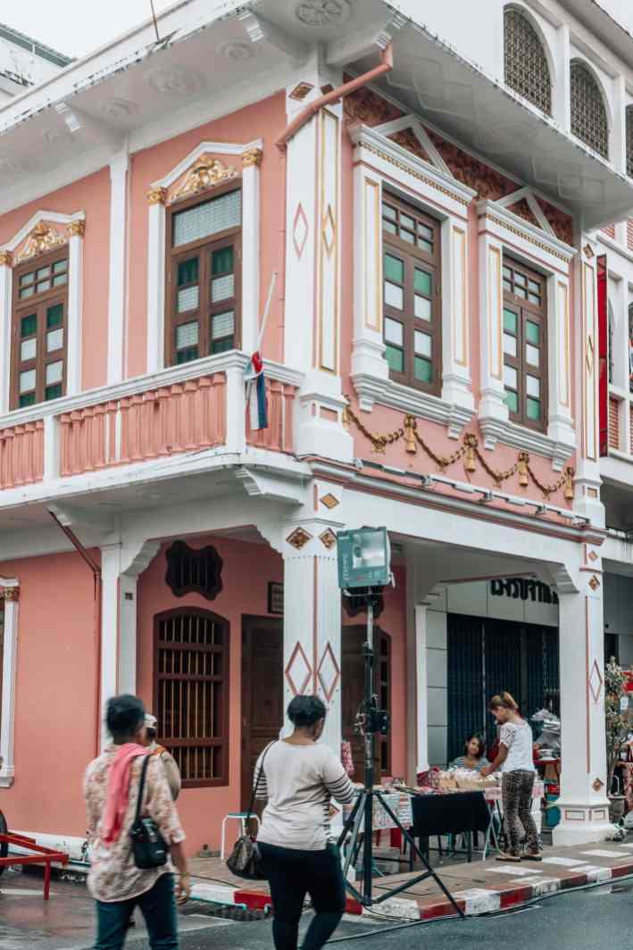 Phuket Stadt Thailand Architektur Sehenswürdigkeiten