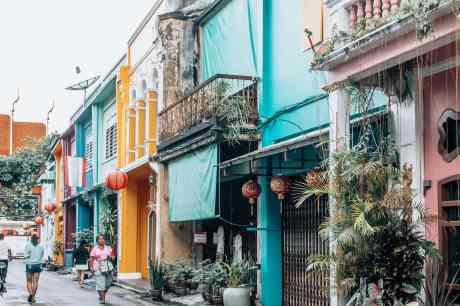 Phuket Stadt Thailand Altstadt Sehenswürdigkeiten