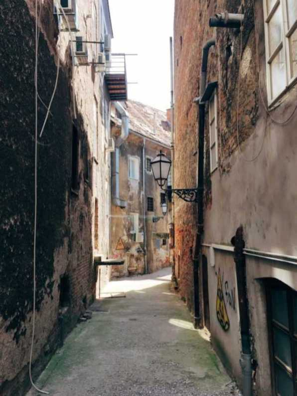 Street in the Old Town of Zagreb