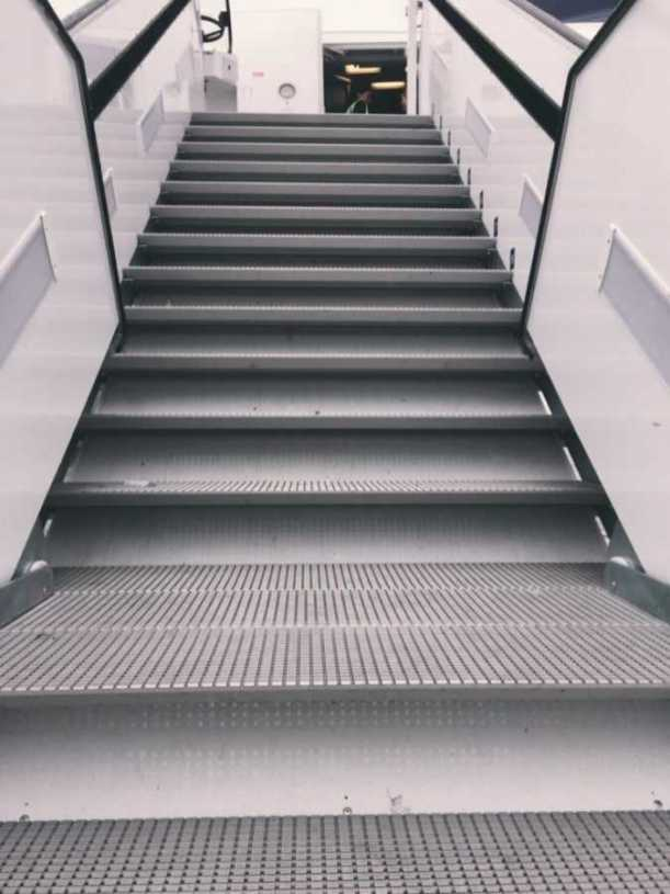 stairs to aircraft