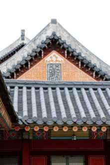 dächer chinesischer stil im gyeongbokgung palast seoul korea
