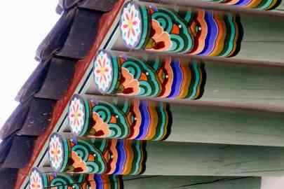 Dachbalken, Gyeongbokgung Palast, Seoul, Korea