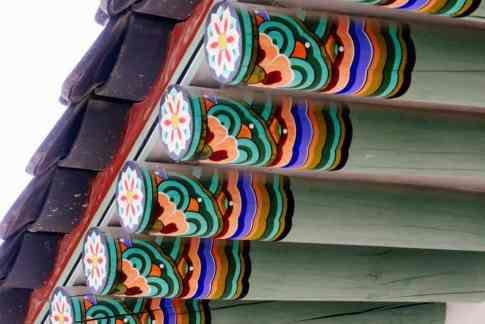 dachbalken gyeongbokgung palast seoul korea
