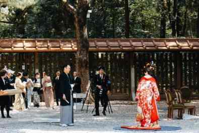 Japanische Shinto-Hochzeit