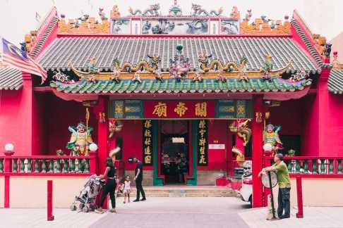 Chinesischer Tempel in Chinatown, Kuala Lumpur, Malaysia