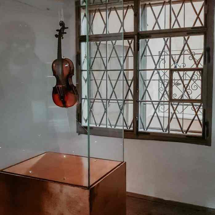 Geige Vitrine Wolfgang Amadeus Mozart Geburthaus