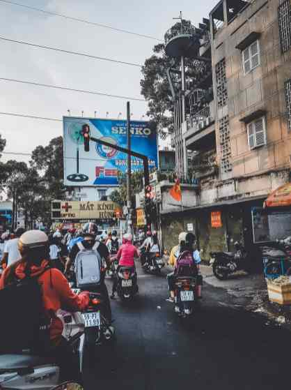 Roller Verkehr in Saigon