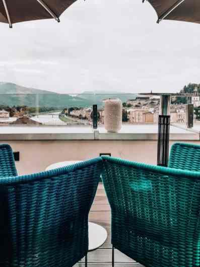 Ausblick auf Salzach Seven Sense Bar Hotel Stein
